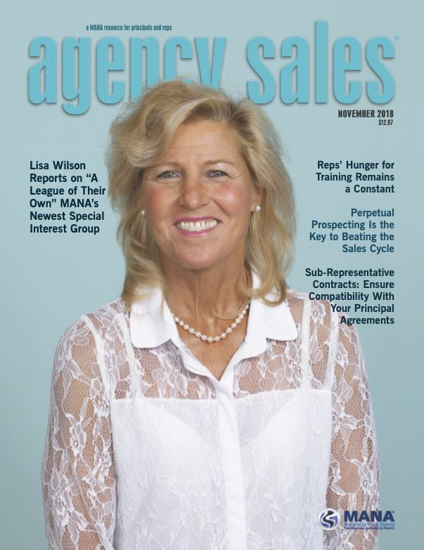 Agency Sales magazine cover featuring Wilson